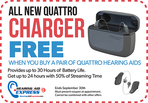 FREE ReSound Quattro Charger - Hearing Aid Express