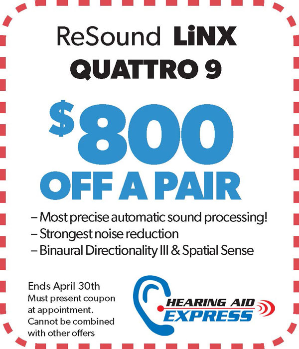 Save $250 on a pair of a ReSound LiNX Quattro 9 | Hearing Aid Express