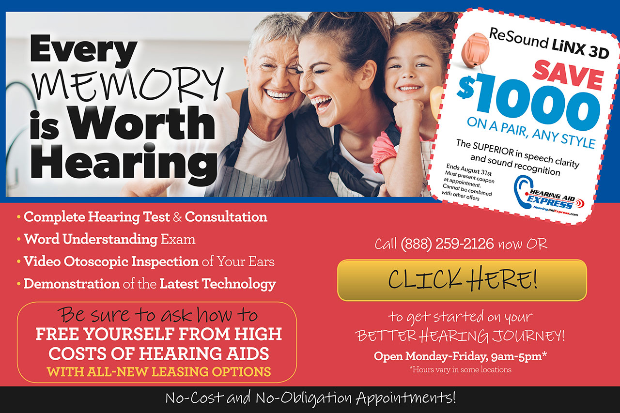 Hearing aid coupons