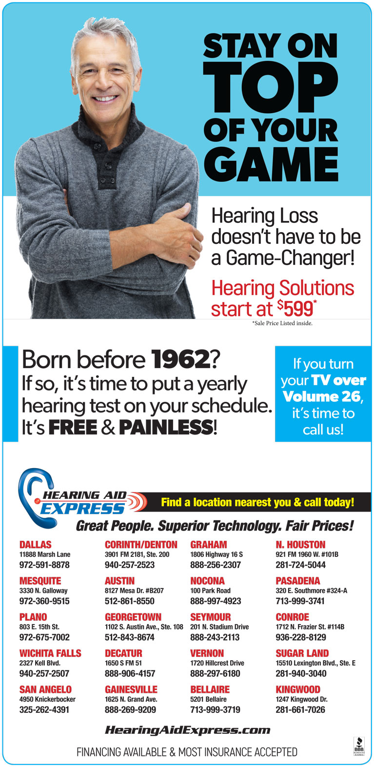 Special Offers & FREE Hearing Services - Hearing Aid Express