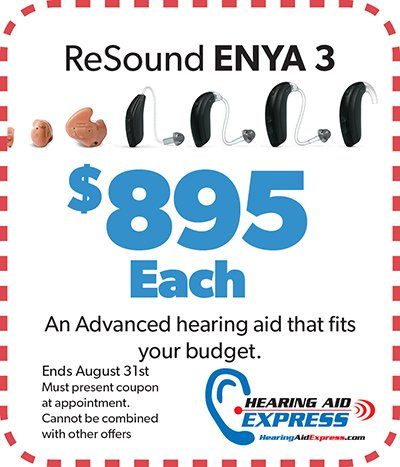 ReSound Enya 3 only $895ea | Hearing Aid Express