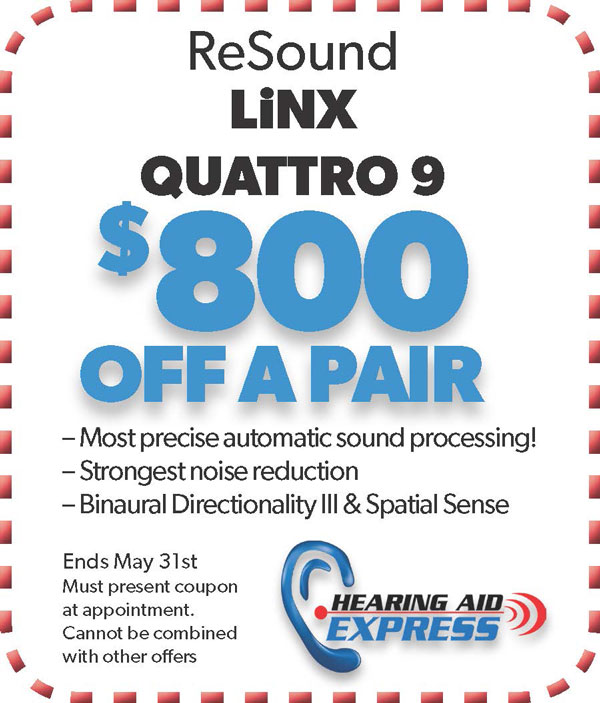 Save $800 on a pair of a ReSound LiNX Quattro 9 | Hearing Aid Express